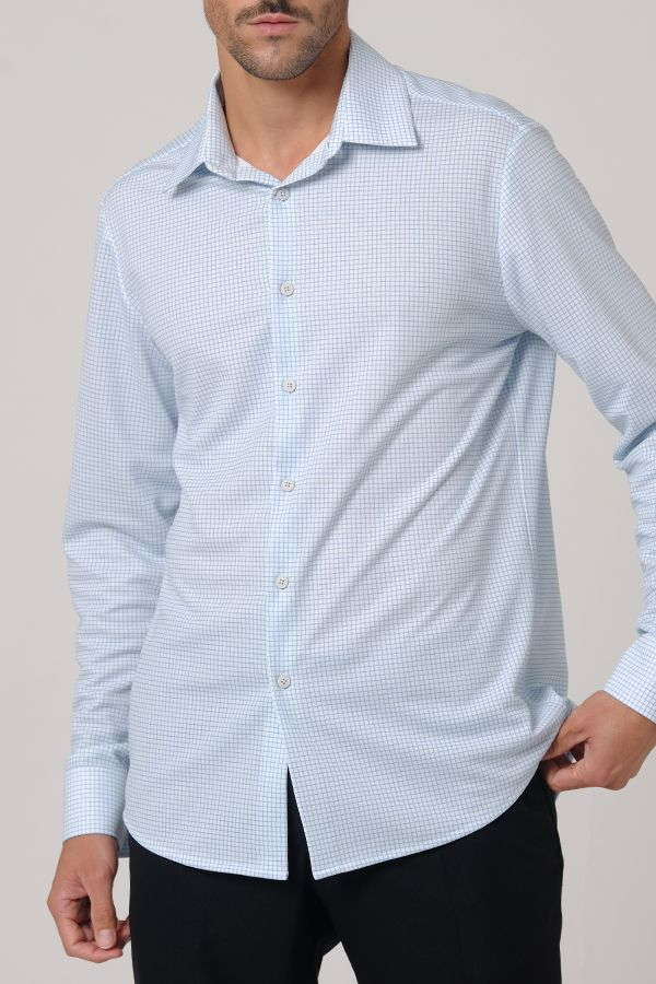 CAMISA CUADROS FINOS REGULAR FIT